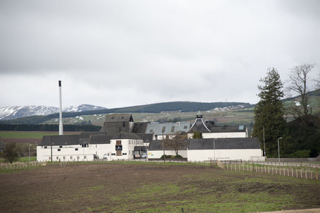 Fettercairn Distillery am Fuße der Gairncorm-mountains
